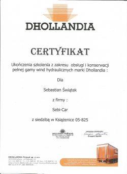 Certyfikat Dhollandia